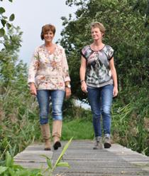Lenie Westerlaken en Tineke Voorthuis